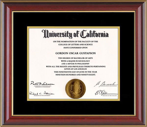 Gordon   Gus UCLA Degree