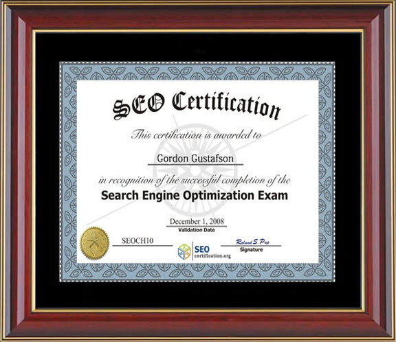 Gordon Gus SEO Certification